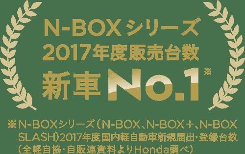 N-BOXシリーズ 2017年度販売台数 新車No.1