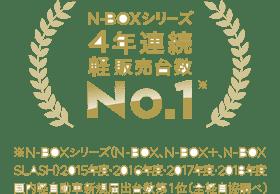N-BOXシリーズ4年連続軽販売台数 No.1