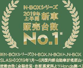 N-BOXシリーズ2年連続国内販売台数 No.1