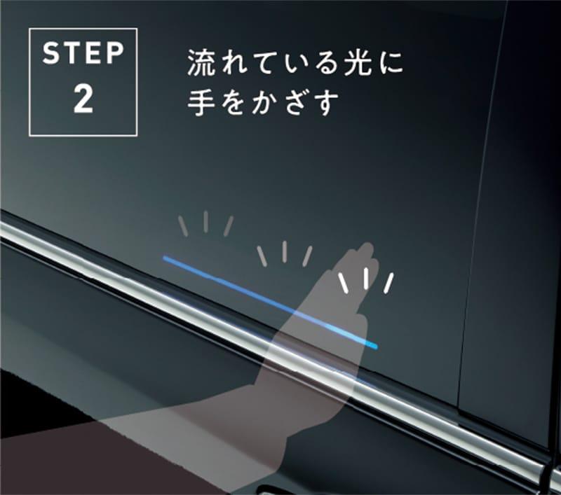 STEP2 流れている光に手をかざす
